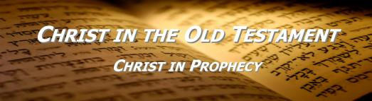 Christ in the OT Series 3 Christ in Prophecy